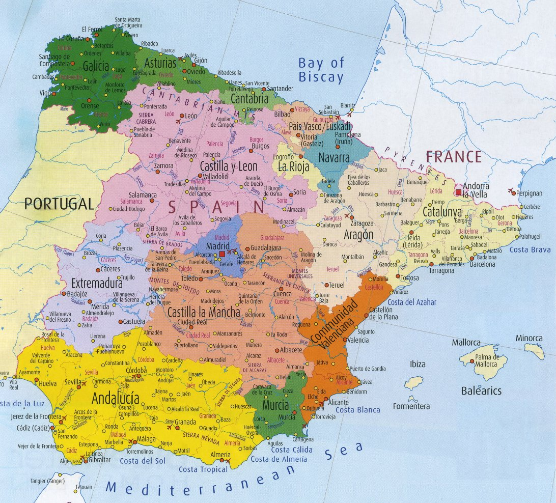 Map Of Spain 1492.Timeline Of Spain 400 Ad 1492 Ad